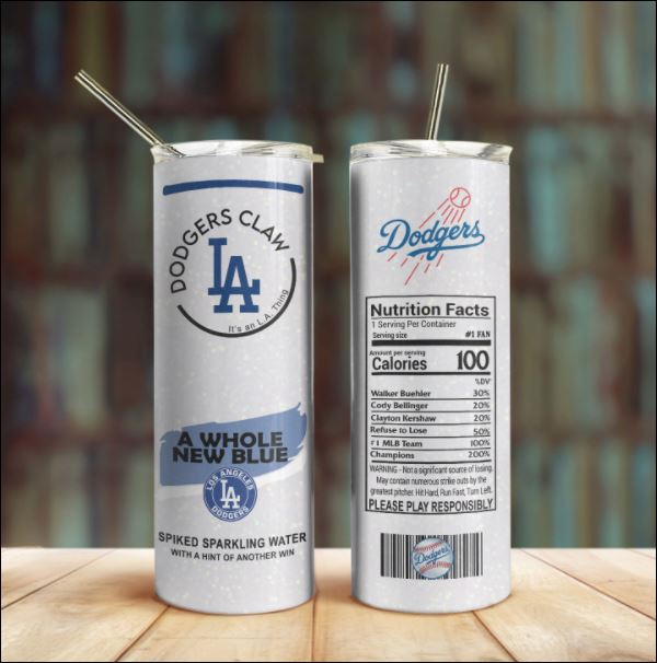 Dodgers claw skinny tumbler