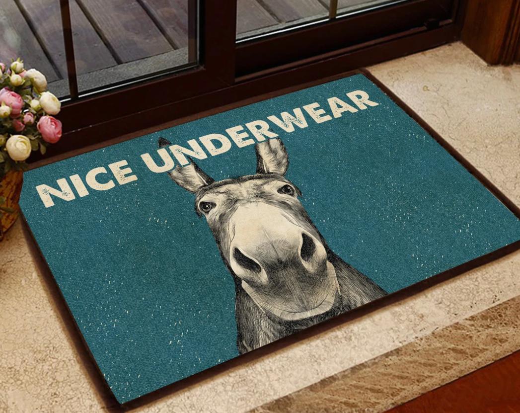 Donkey nice underwear doormat
