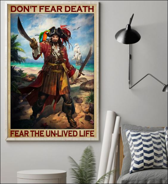Don't fear death fear the un-lived life poster 1