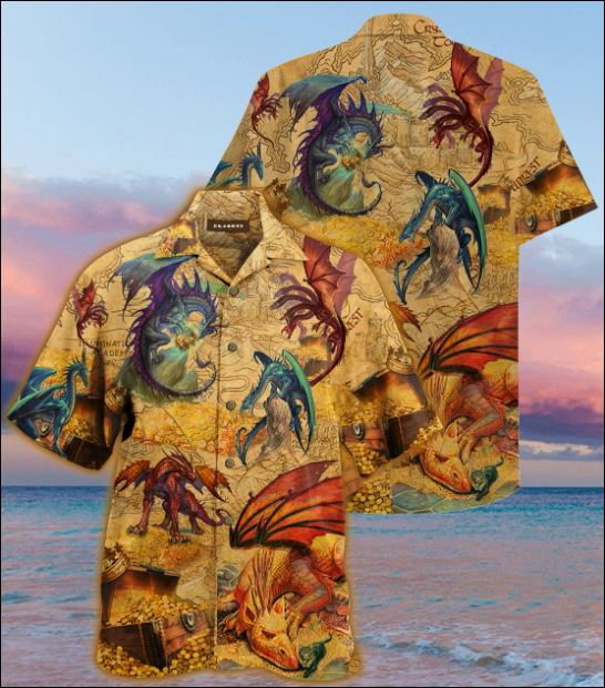 Dragon guard treasure hawaiian shirt