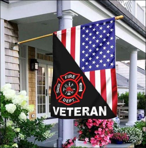 Firefighter veteran American Flag