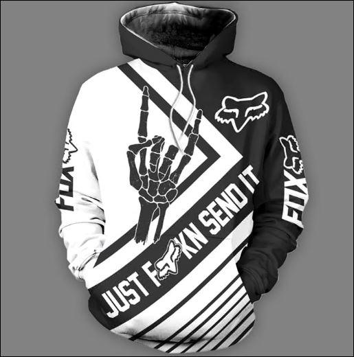 Fox Racing just fucking send it all over printed 3D hoodie