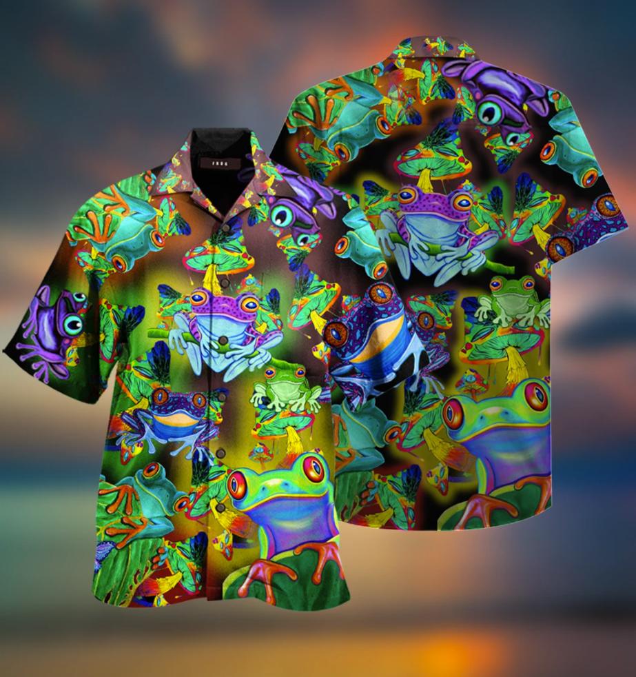 Frogs and Mushrooms hawaiian shirt