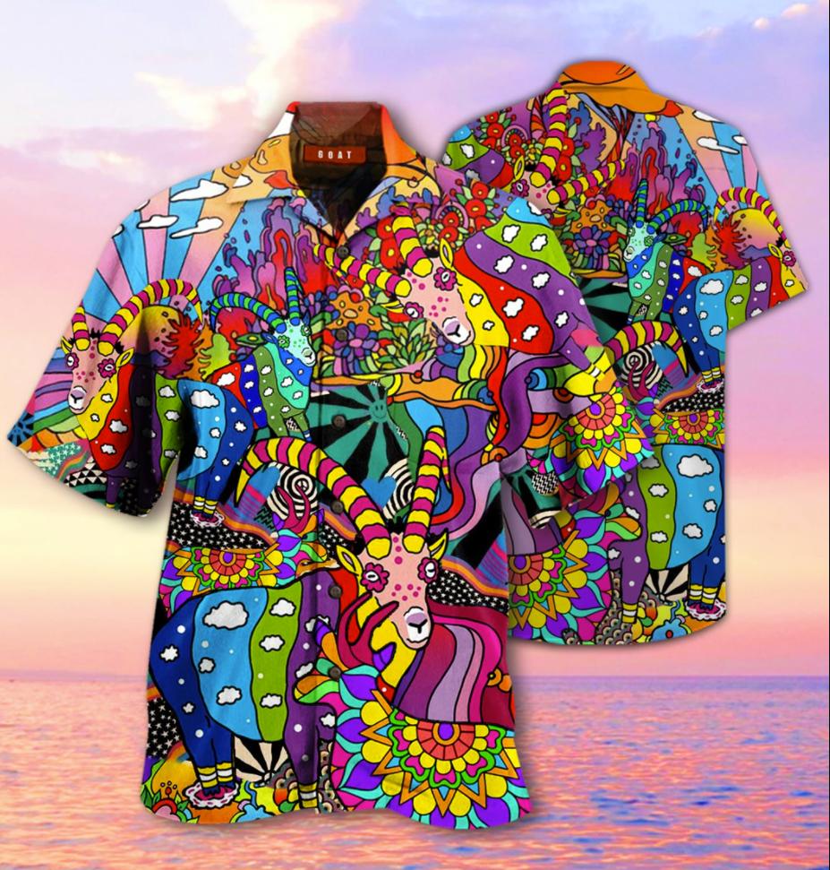 Goats hippie hawaiian shirt