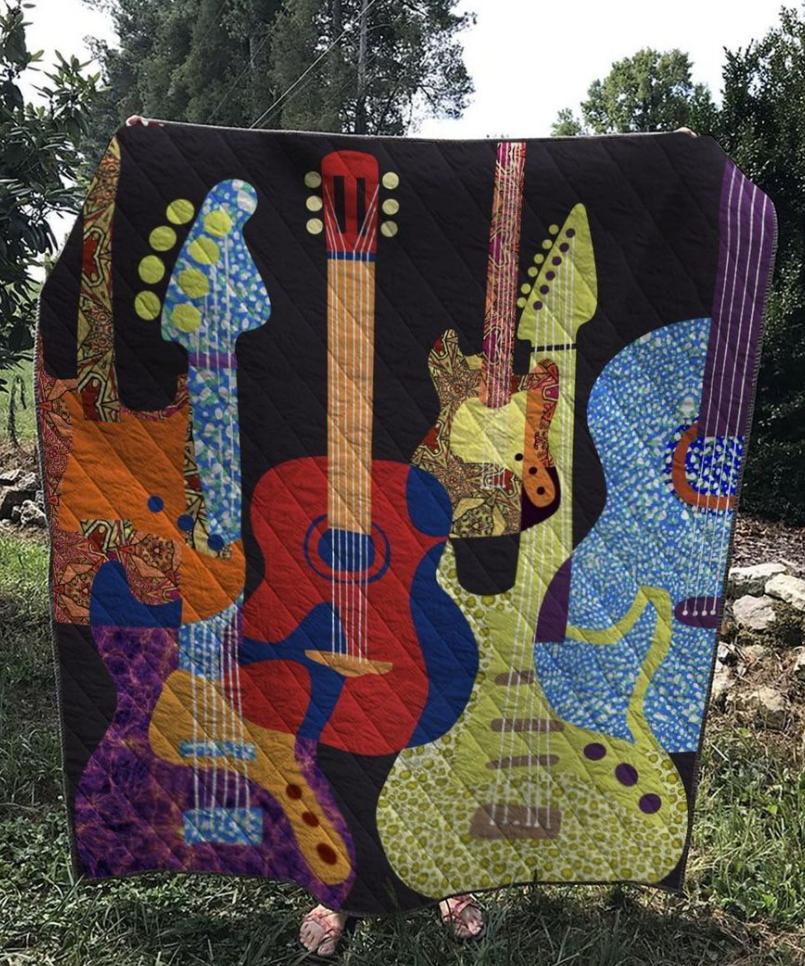 Guitars 3D quilt
