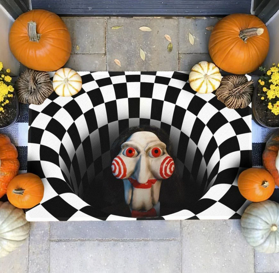 Halloween Billy Jigsaw illusion doormat