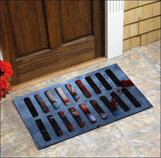 Halloween Chucky illusion doormat 1
