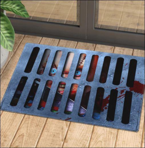 Halloween Chucky illusion doormat