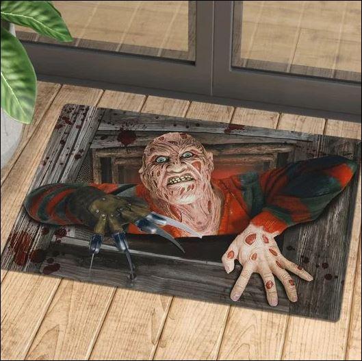 Halloween Freddy Krueger illusion doormat