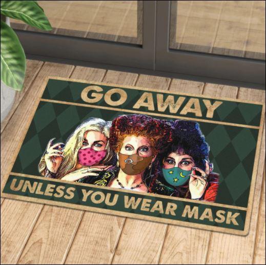 Halloween Hocus Pocus go away unless you wear mask doormat