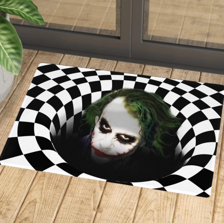 Halloween Joker illusion doormat 1