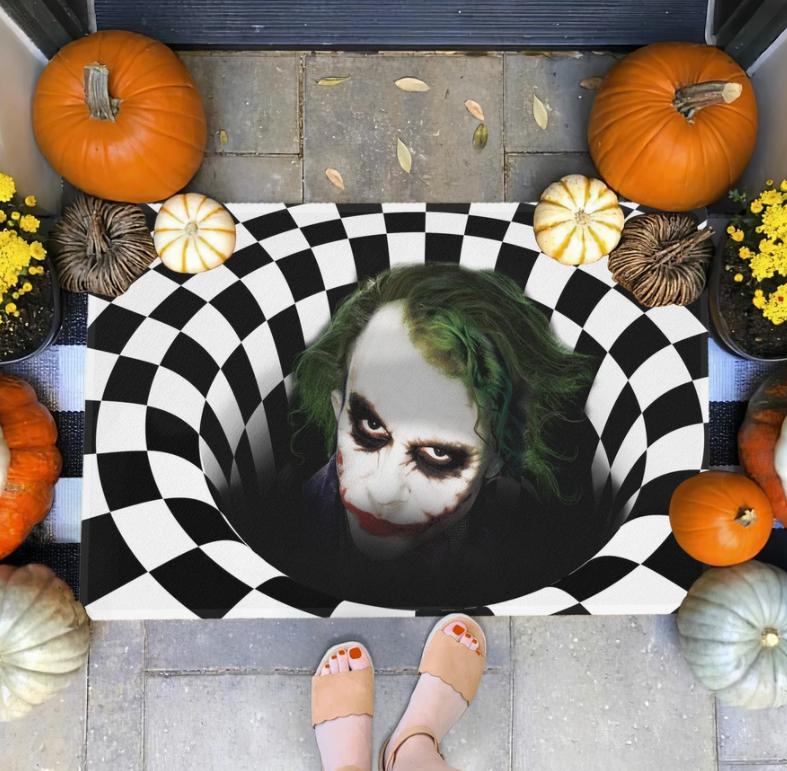 Halloween Joker illusion doormat