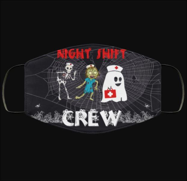 Halloween Night shift crew face mask