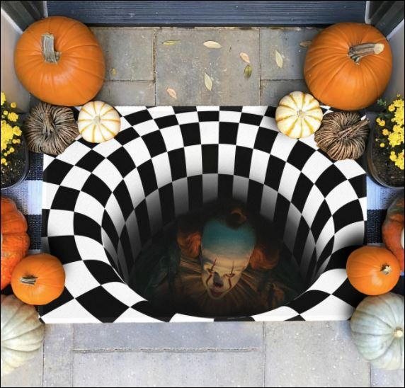 Halloween Pennywise illusion doormat 1