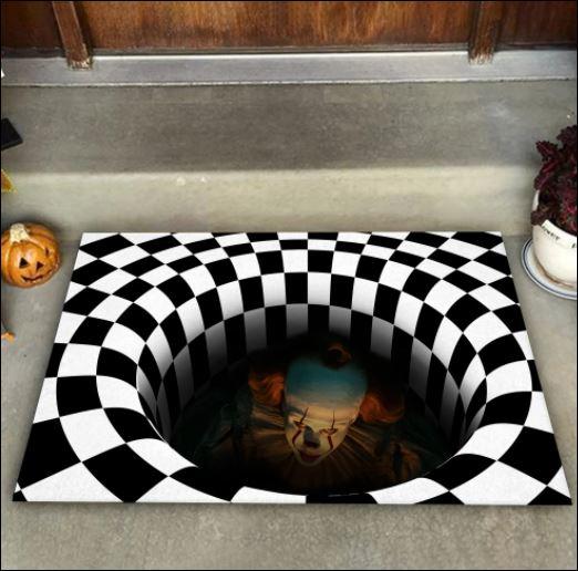 Halloween Pennywise illusion doormat