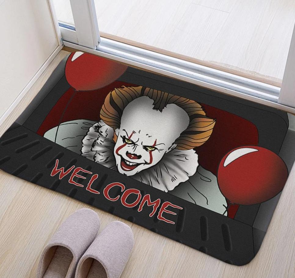 Halloween Pennywise welcome doormat 1