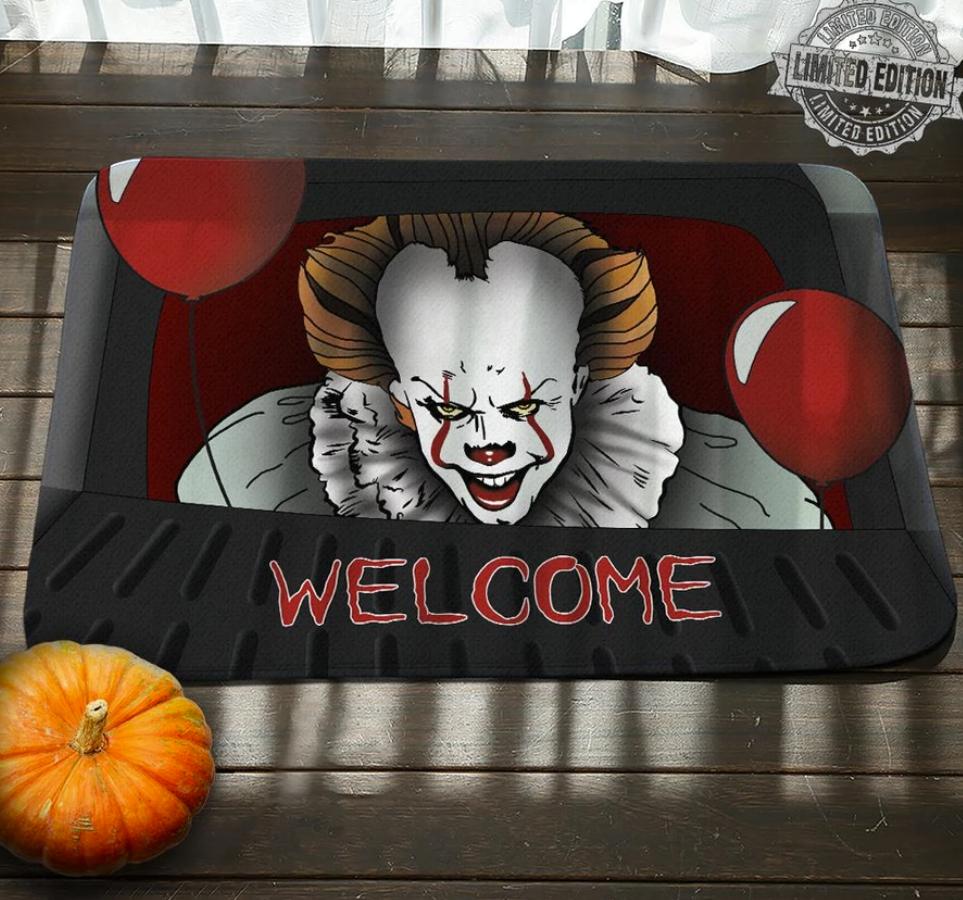 Halloween Pennywise welcome doormat
