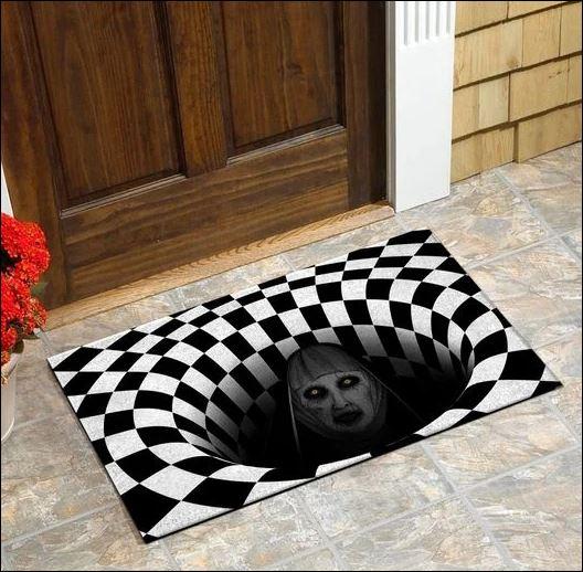 Halloween Valak illusion doormat 1