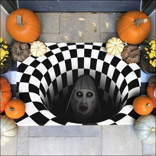Halloween Valak illusion doormat