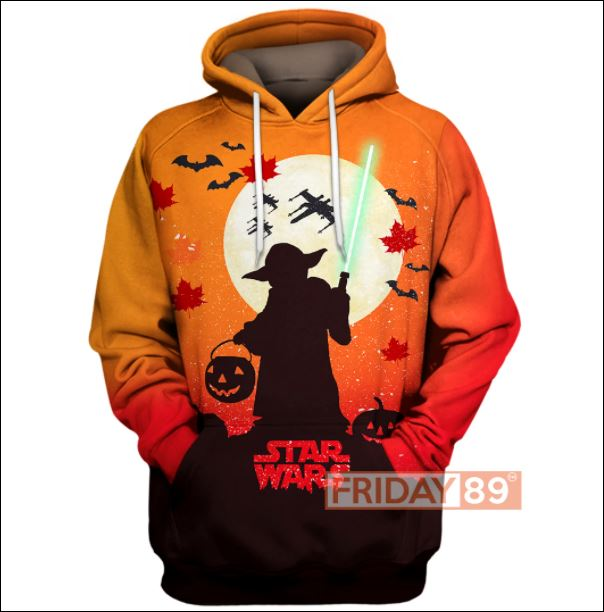 Halloween Yoda Star Wars 3D all over printed hoodie