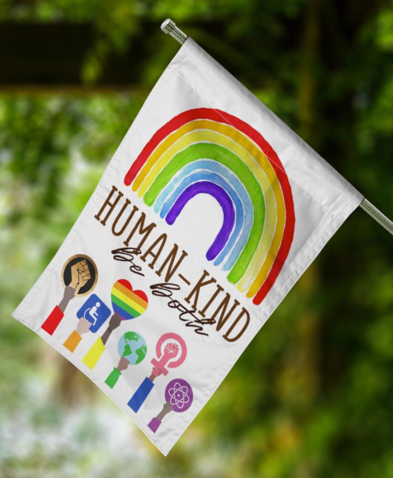 Human kind be both flag 1