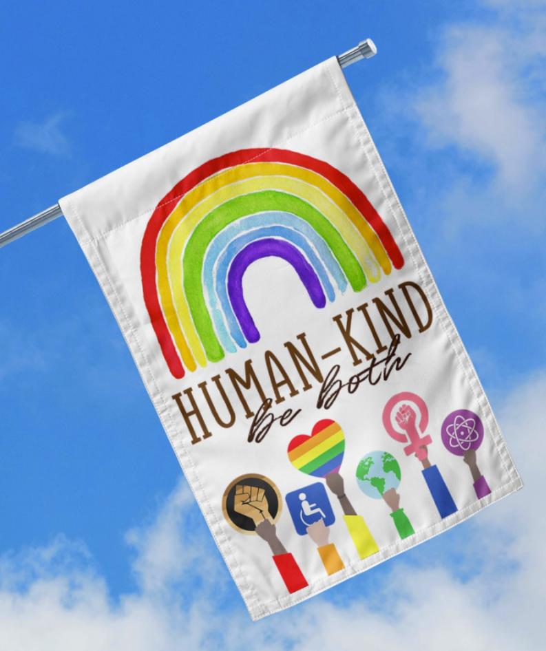 Human kind be both flag