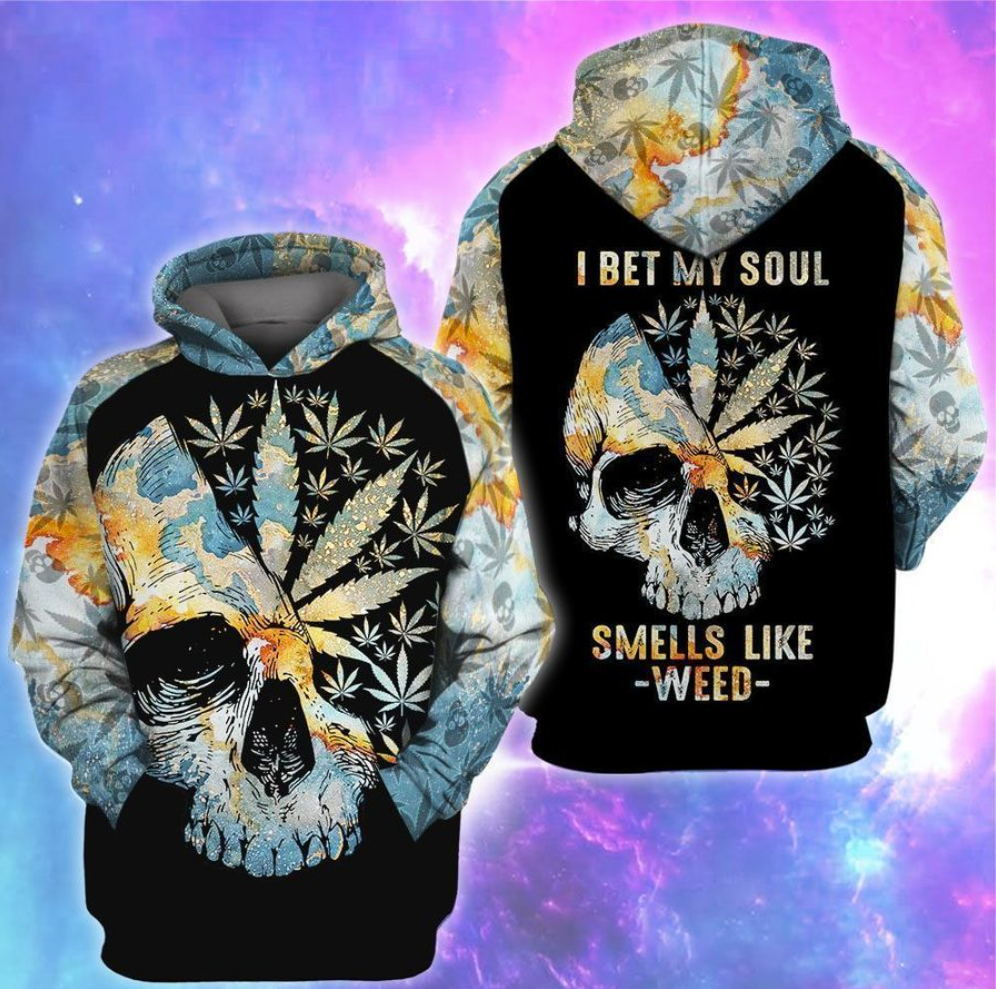 I bet my soul smells like weed all over printed 3D hoodie