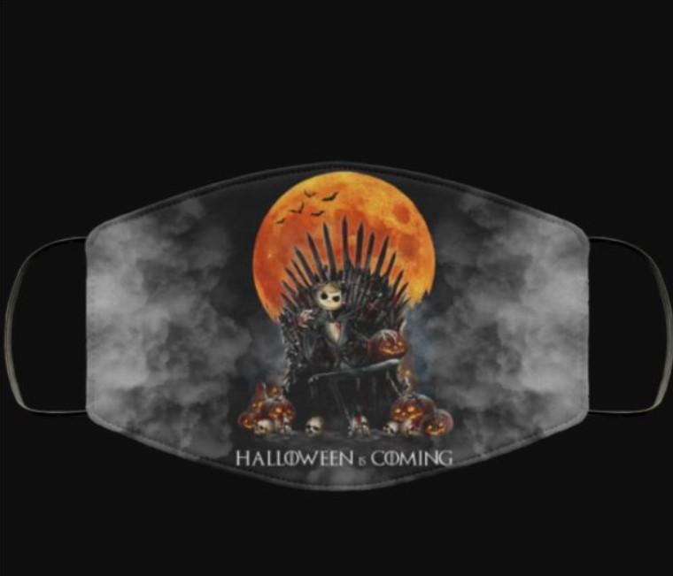 Jack Skellington Halloween is coming face mask