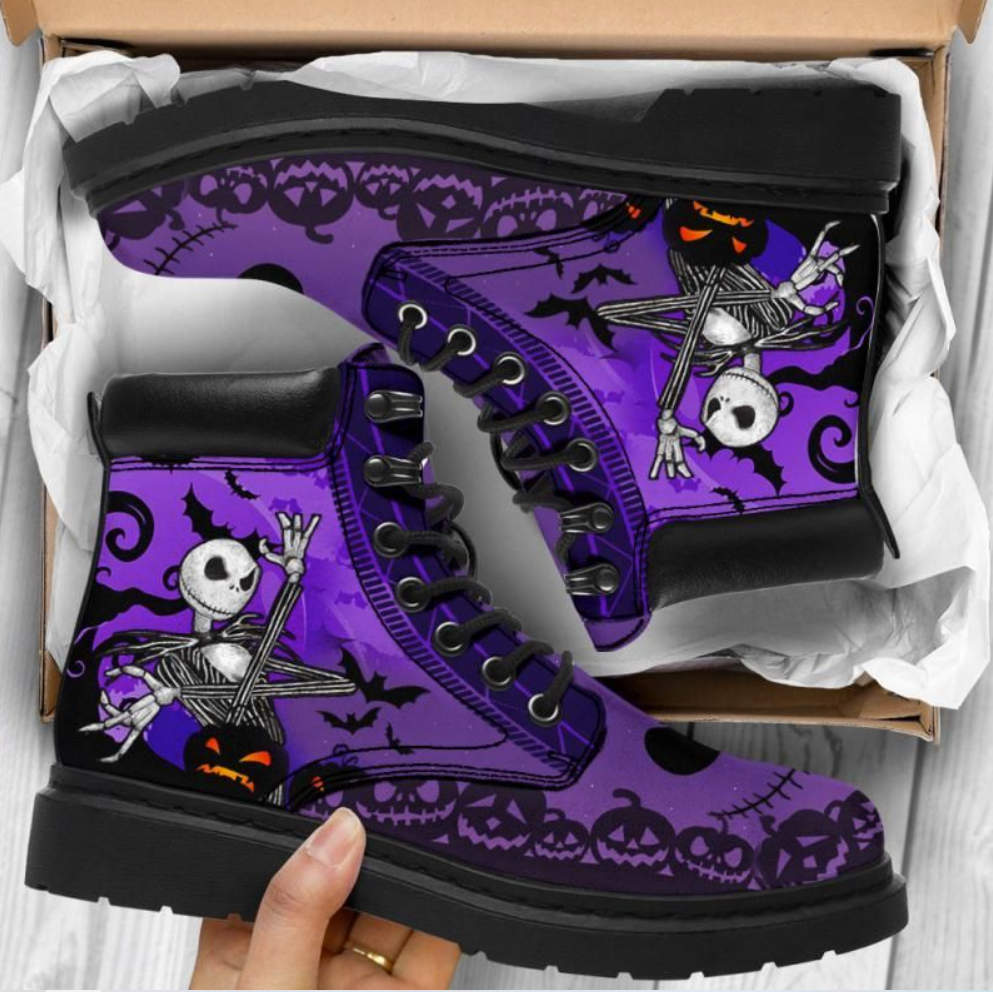 Jack Skellington happy Halloween timberland boots