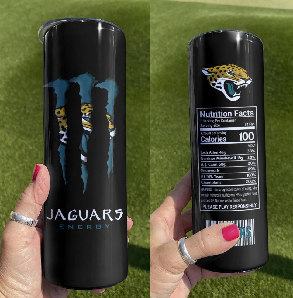 Jaguars Energy skinny tumbler