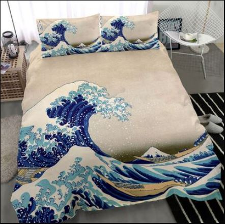 Japanese kanagawa wave bedding set