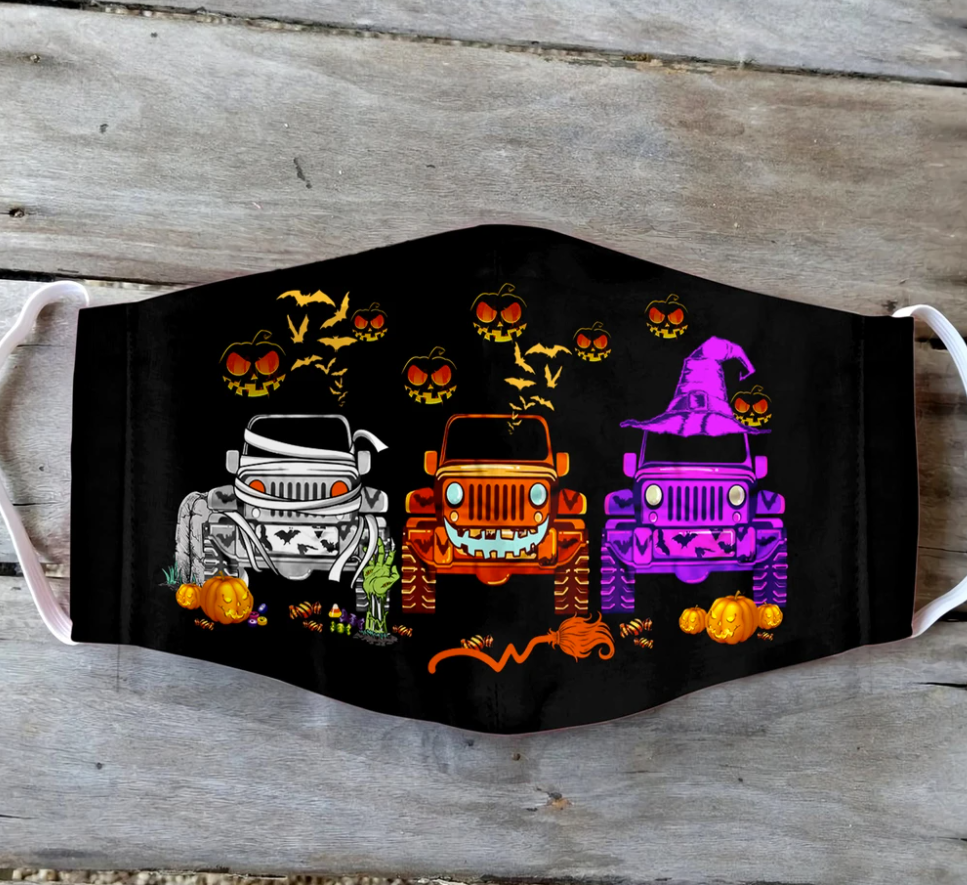 Jeep happy Halloween face mask