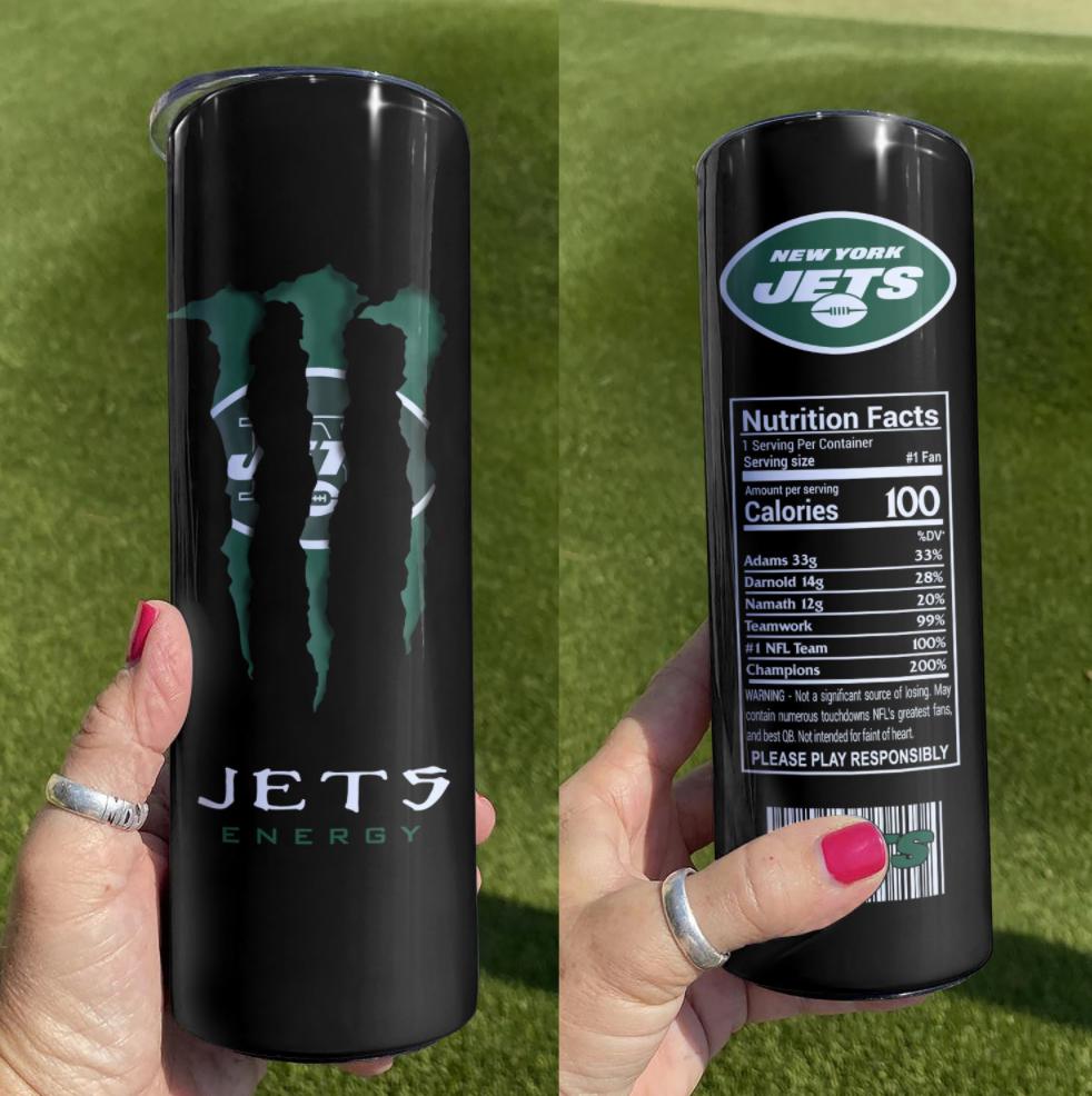Jets Energy skinny tumbler