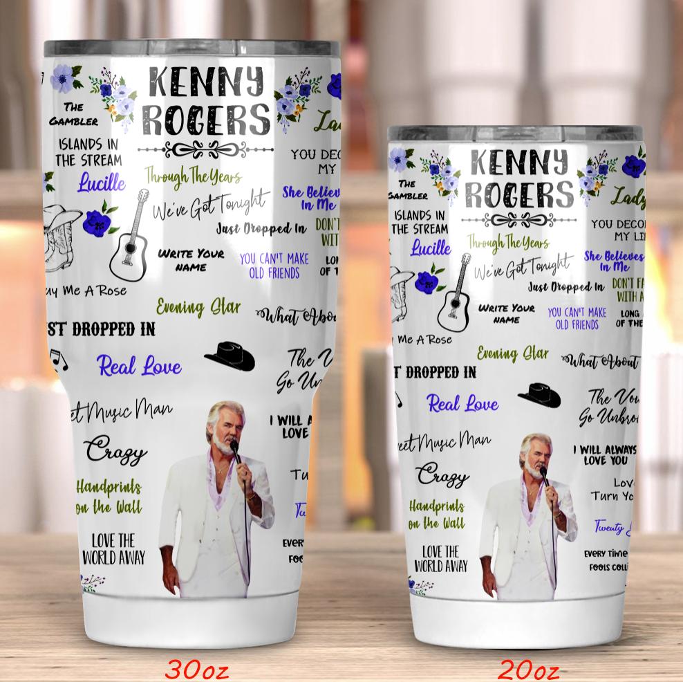 Kenny Rogers tumbler