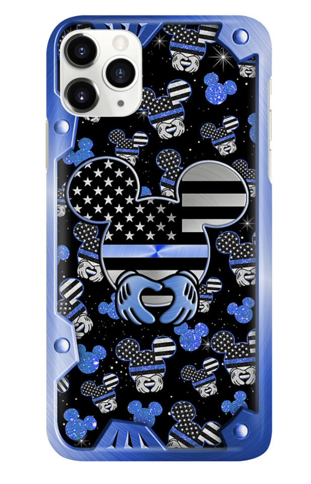 Mickey mouse black and blue 3D phone case