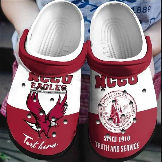 NCCU Eagles university crocs crocband