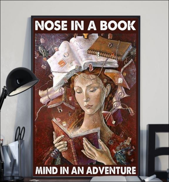 Nose in a book mind in an adventure poster 1