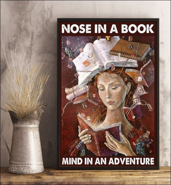 Nose in a book mind in an adventure poster 2