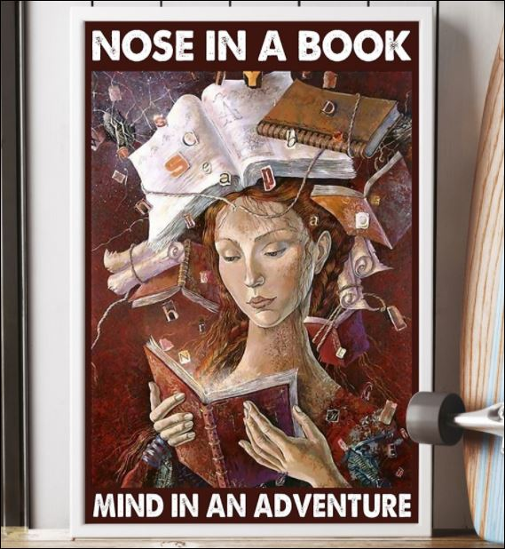 Nose in a book mind in an adventure poster 3