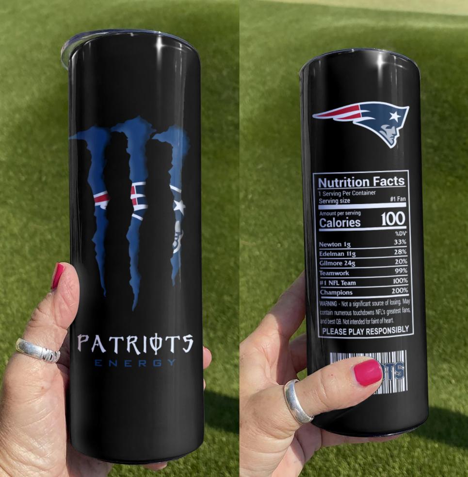 Patriots Energy skinny tumbler