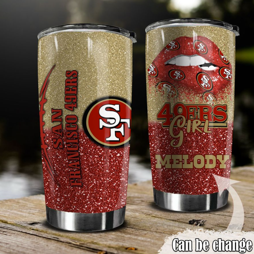 Personalized 49ers girl tumbler