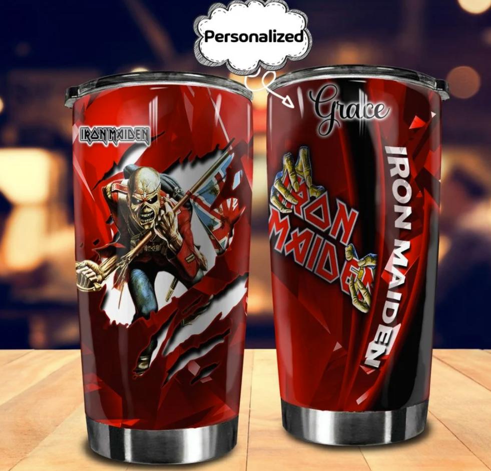 Personalized Iron Maiden tumbler