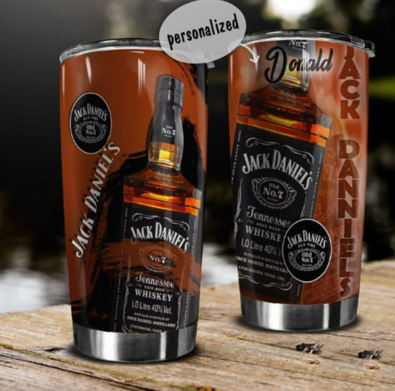 Personalized Jack Daniel's tumbler