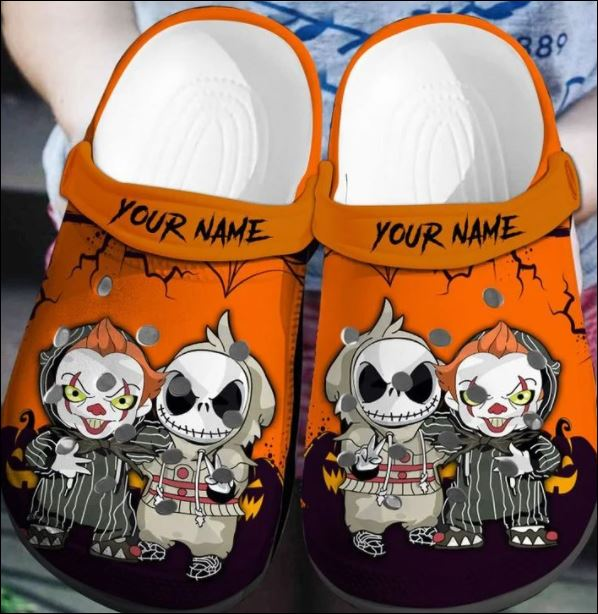 Personalized Jack Skellington and Pennywise crocband