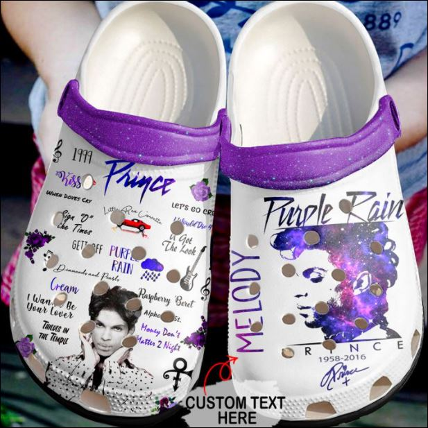 Personalized Prince purple rain crocs crocband