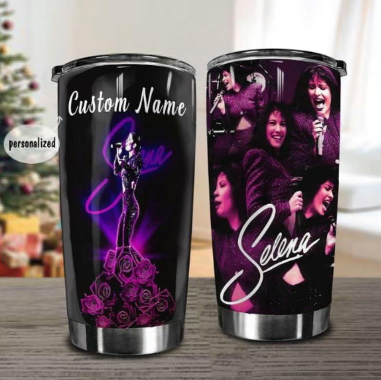Personalized Selena singer tumbler