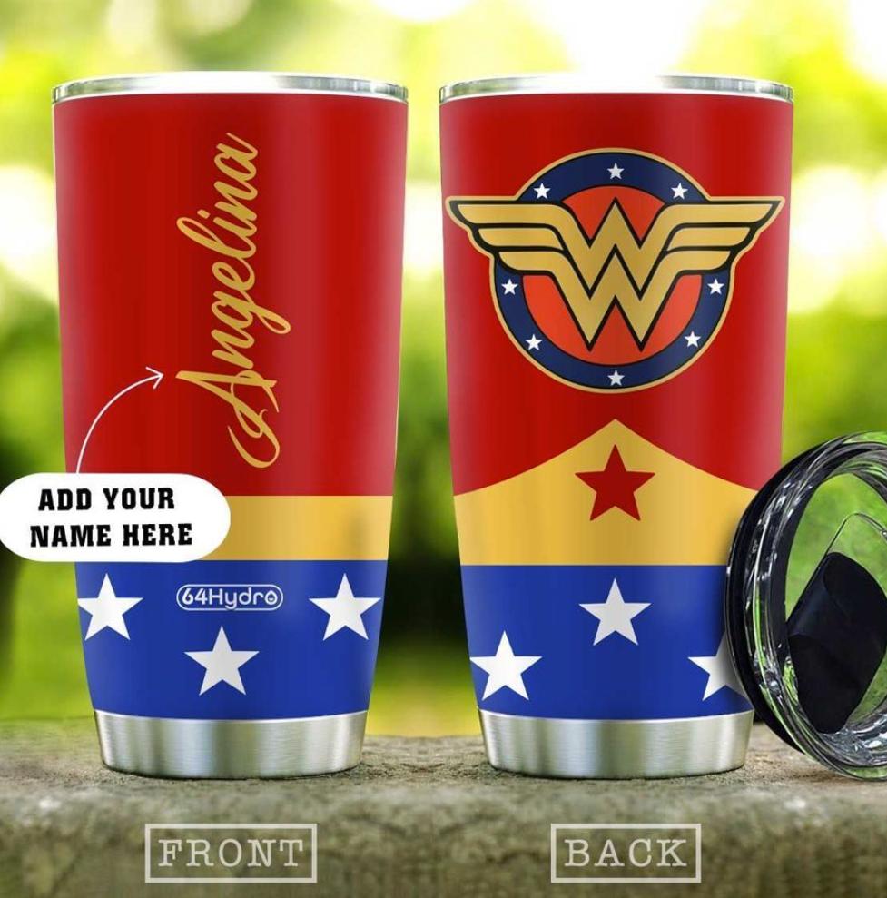 Personalized Wonder Woman tumbler