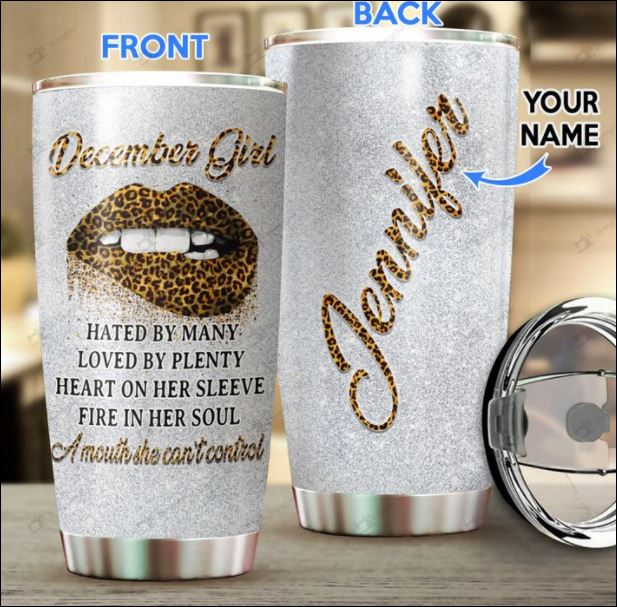 Personalized december girl hated by many loved by plenty tumbler
