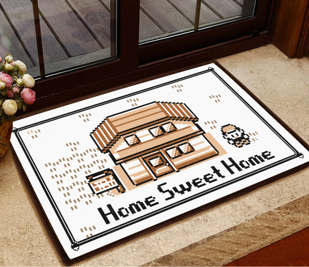 Pokemon game home sweet home doormat