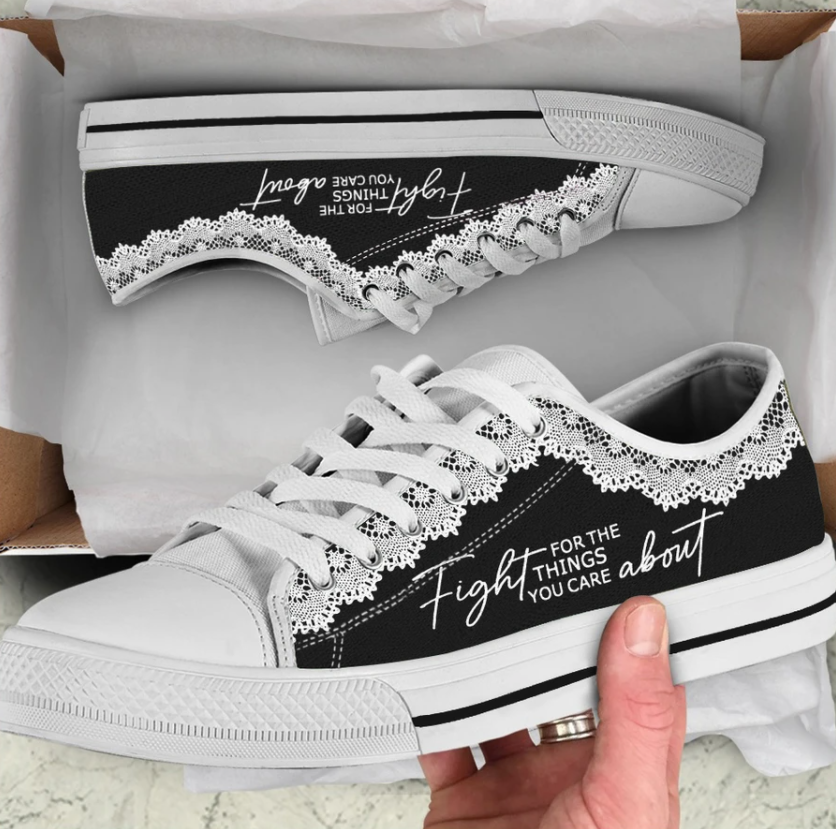 RBG fight for the thing you care about low top shoes